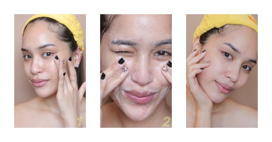washed face